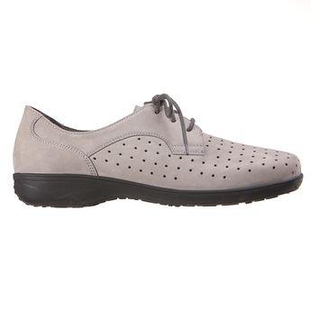 8752f523e77a16 -20% TINKA GRIS - Chaussures à lacets aérées pour pieds sensibles