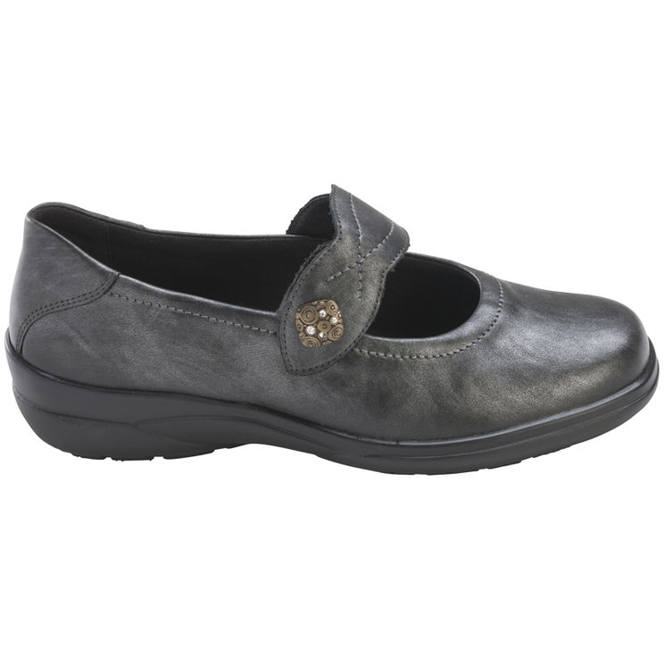 MAIKE ANTHRACITE - Ballerines confortables
