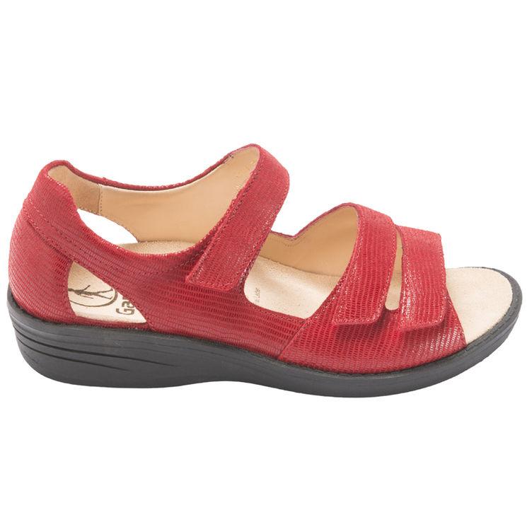 0250ac3c557 EVA ROUGE - Sandales élégantes pour pieds larges