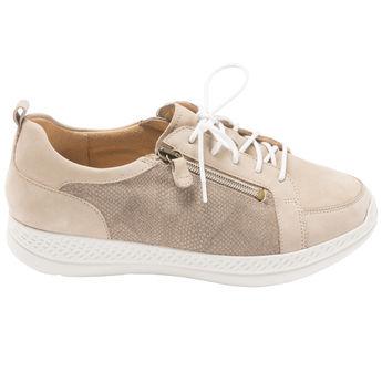 eb0b44d160d587 -20% KARLA TAUPE - Chaussures à lacets confortables et pratiques