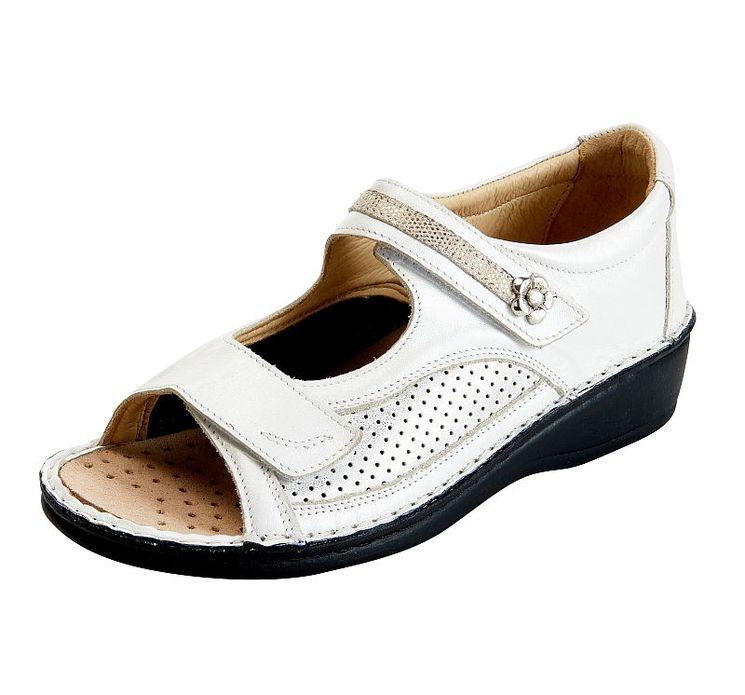LEA ANTHRACITE Sandales pieds larges à petit prix pour